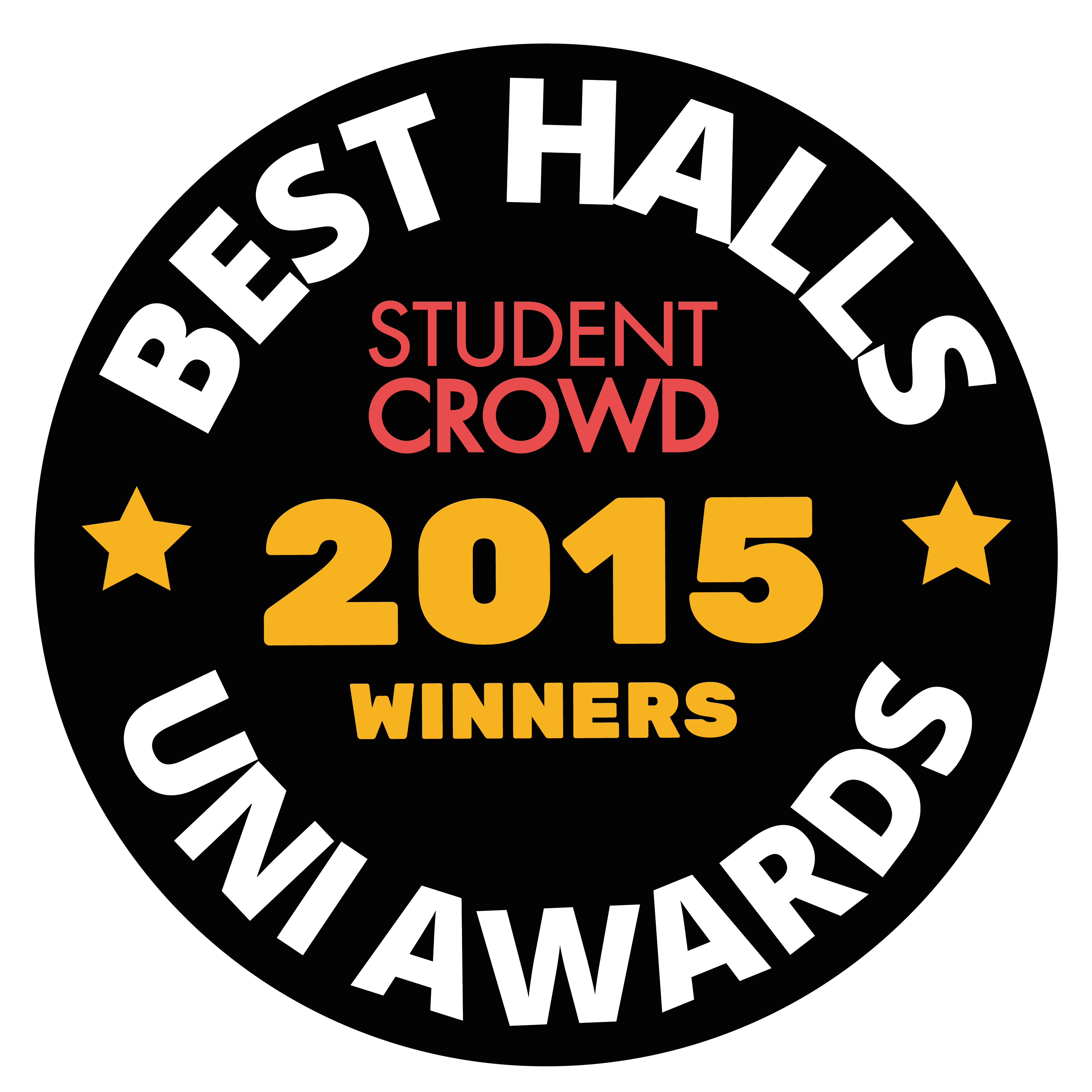 StudentCrowd Best Uni Halls Awards Badge